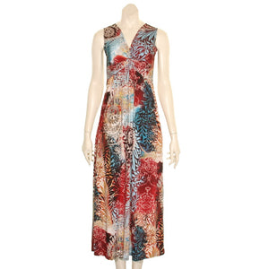 Summer's Fashion Sleeveless Long Printed Dress