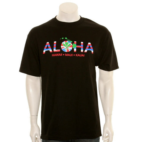 ALOHA Men's Tee Black - SA 5-3