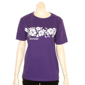 Women's Scoop Neck Hibiscus Band Tee - HT/SN60-5