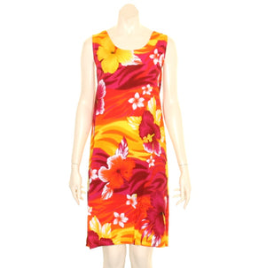 Island Tye Dye Tank Dress(110440) ~ Yellow