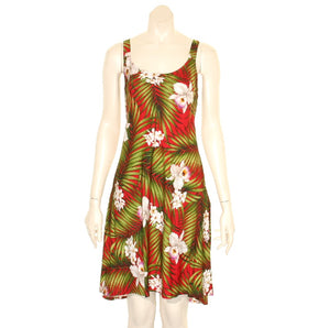 Paradise Palm Short Tank Dress
