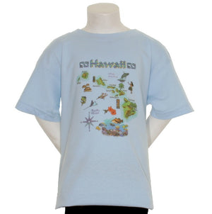 Hawaiian Map Boy's T-shirt - HC45-11