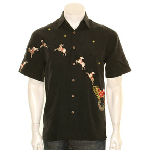 "Bamboo Cay ""Flying Santa"" - Men's Aloha Shirt (SN1905)"