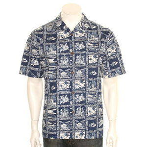 "Hilo Hattie ""The 50th State"" Aloha Shirt"