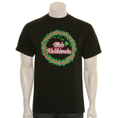 Aloha Wreath Men's Tee(SA5-2) ~ Black