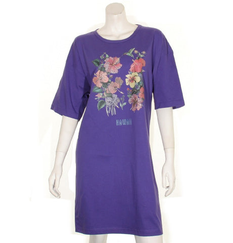 Hibiscus  Beach Cover Up ~ Purple