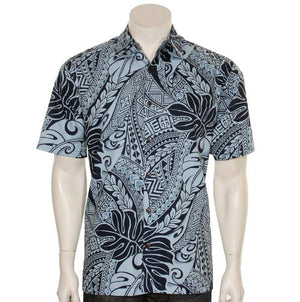 Tribal Monstera Aloha Shirt