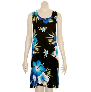 Island Tye Dye Tank Dress(110440) ~ Black/Blue
