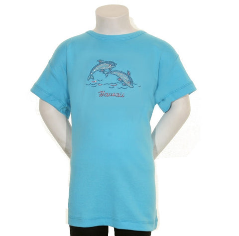 2 Colored Stone Dolphins Junior Fitted Tee - CSJ 1-9