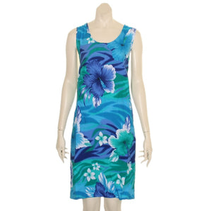Island Tye Dye Tank Dress(110440) ~ Blue/Green