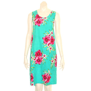 Island Tye Dye Tank Dress(110440) ~ Emerald Green