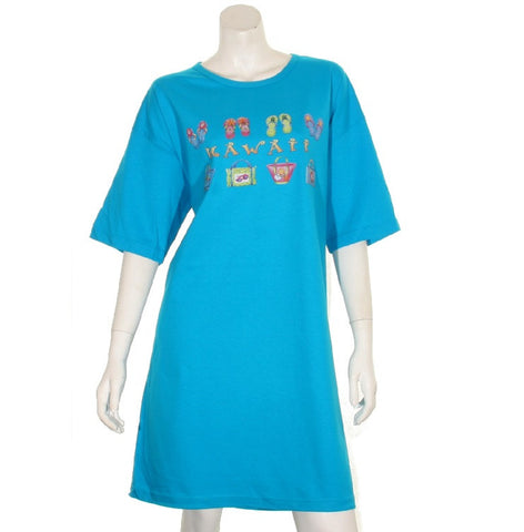 Hawaii Slipper and Bag Beach Cover Up ~ Turquoise