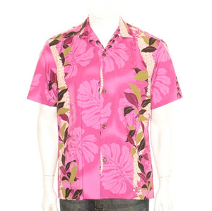 Maile Monstera Panel Aloha Shirt