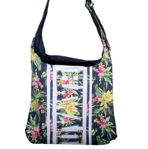 Hawaii Shoulder Bag With Zipper - Blue