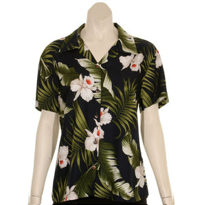 Orchid Floral Camp Blouse