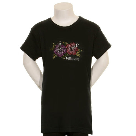 2 Colored Stone Hibiscus Junior Fitted Tee - CSJ 1-8