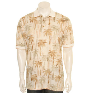 Bamboo Cay - Palm Trees Men's Polo Shirt (KRK-004) - Tan