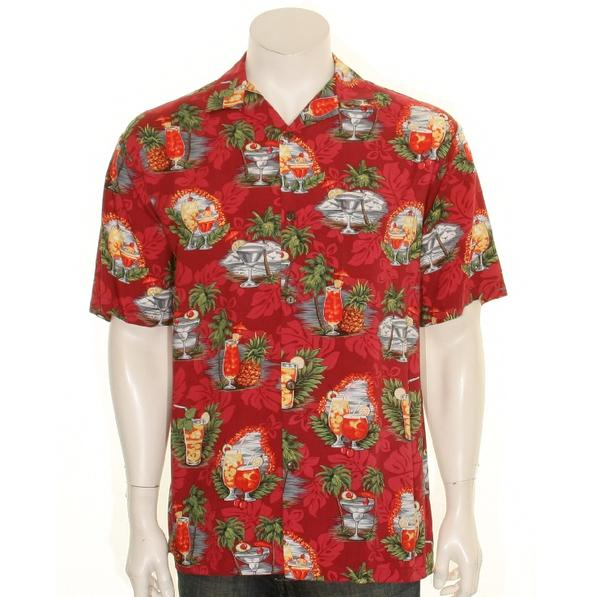 25918d93c Hilo Hattie Tropical Martini Men's Aloha Shirt