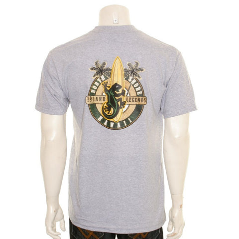 North Shore Island Legends Gecko Men's T-shirt - HA96-1 Gray