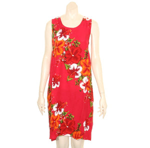 Island Tye Dye Tank Dress(110440) ~ National Red