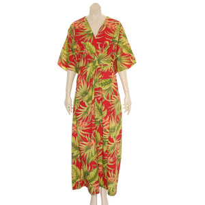 "New ""Ginger"" Japanese StylePoly Cotton Caftan ~ Red"