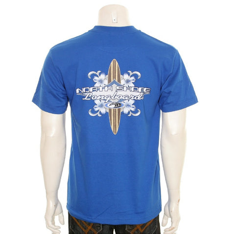 North Shore Longboard Men's T-shirt - HA85-4 Royal
