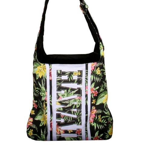 Hawaii Shoulder Bag With Zipper - Black
