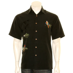"Bamboo Cay ""Flying Parrots"" - Men's Aloha Shirt (WB1916)"