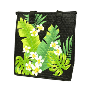 Jasmine Black Medium Insulated Hot/Cold Reusable Bag