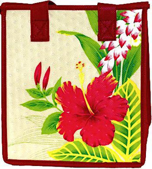 Kamaile  Cream Petite Hawaiian Insulated Hot/Cold Reusable Bag