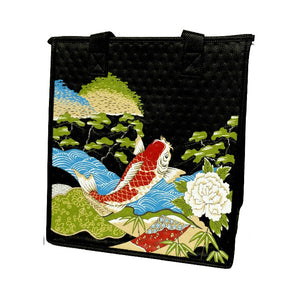 Koi Temple Black Medium Insulated Hot/Cold Reusable Bag