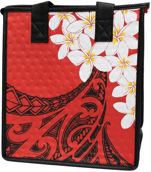 Kokoi Red Petite Hawaiian Insulated Hot/Cold Reusable Bag