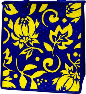 Lemonade Navy Insulated Hot/Cold Reusable Bag~Medium