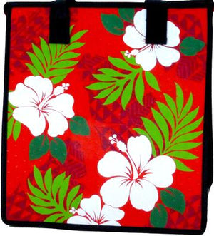 Let's Aloha Red  Insulated Hot/Cold Reusable Bag~Medium