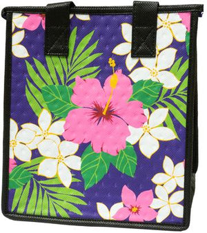 Lulu Petite Purple Hawaiian Insulated Hot/Cold Reusable Bag