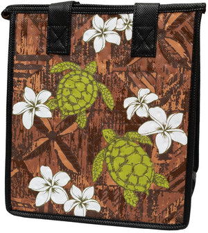 Malia Brown Petite Hawaiian Insulated Hot/Cold Reusable Bag