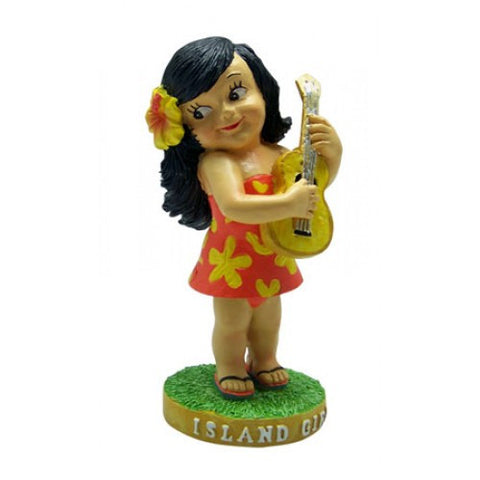 Mini Island Girl Hula Dashboard Doll