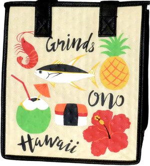 Ono Grinds Cream  Petite Hawaiian Insulated Hot/Cold Reusable Bag