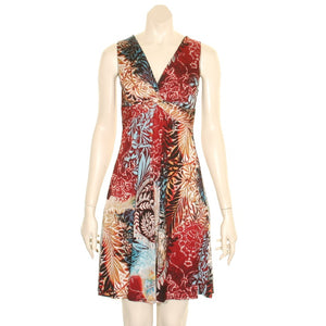 Summer's Fashion Sleeveless Short Printed Dress
