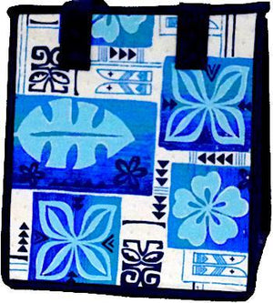 Punchbowl Blue Petite Hawaiian Insulated Hot/Cold Reusable Bag