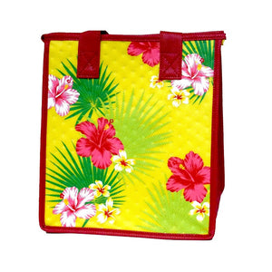Pure Aloha Yellow Petite Hawaiian Insulated Hot/Cold Reusable Bag