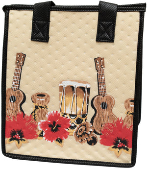 Rock With You Cream Petite Hawaiian Insulated Hot/Cold Reusable Bag