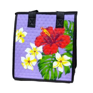 Ruti Purple Petite Hawaiian Insulated Hot/Cold Reusable Bag
