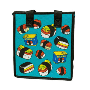 Spam Jam Turquoise Petite Hawaiian Insulated Hot/Cold Reusable Bag