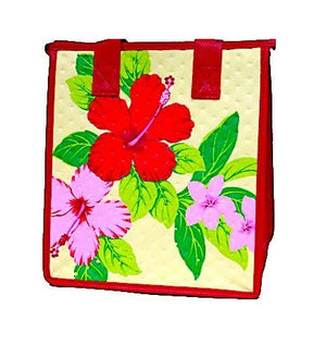Sunnyside Cream Petite Hawaiian Insulated Hot/Cold Reusable Bag