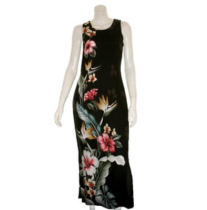 Floral Bird of Paradise Long Dress