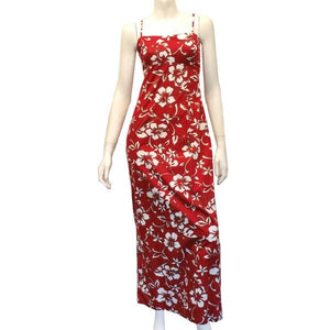 Classic Hibiscus Strap Long Dress
