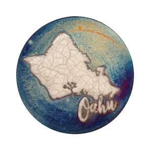Raku Potteryworks - Oahu Coaster - 1 piece