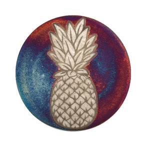 Raku Potteryworks - Pineapple Matte Coaster - 1 piece