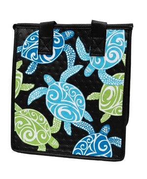 Double Knot Black Petite Hawaiian Insulated Hot/Cold Reusable Bag